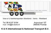 K & K Int. & Nationaal Transport B.V.